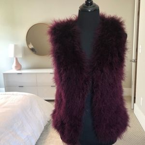 CLUB MONACO Burgundy Feather Vest